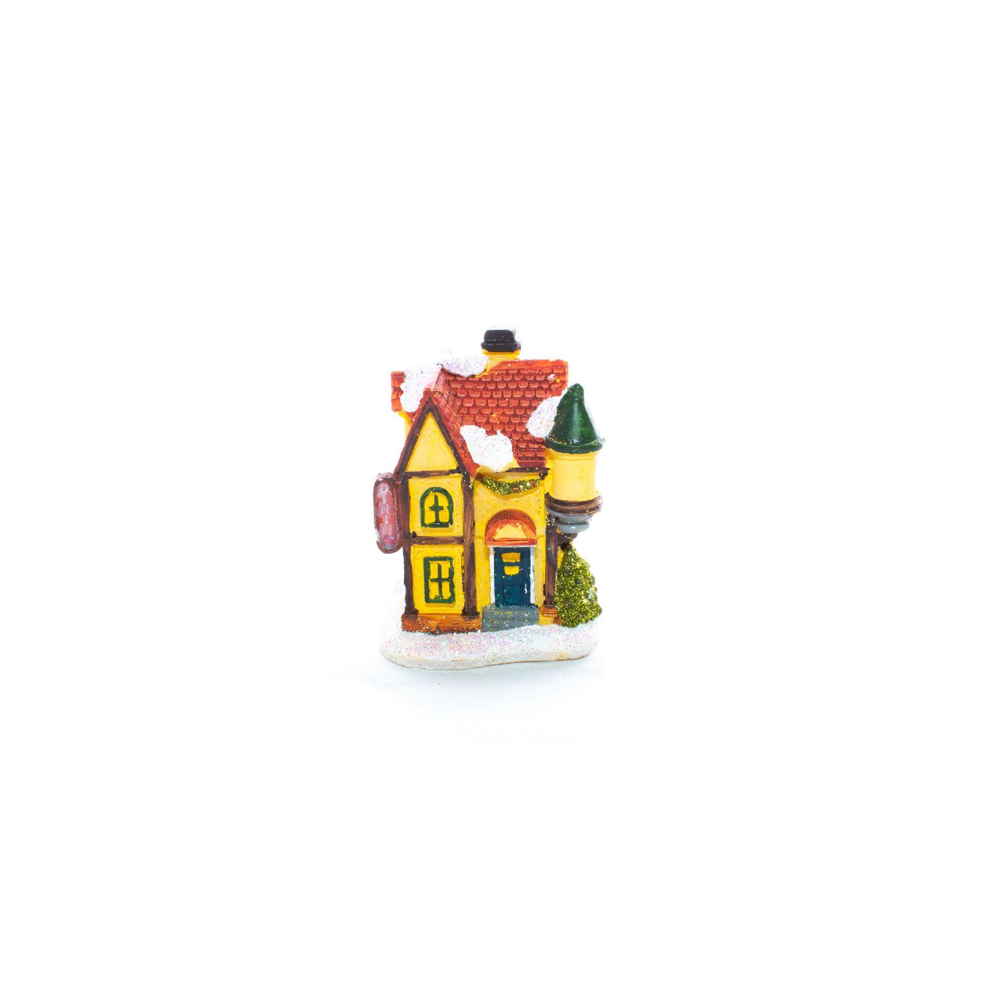 Mini casa natalina com led Un. - 8cm de Altura