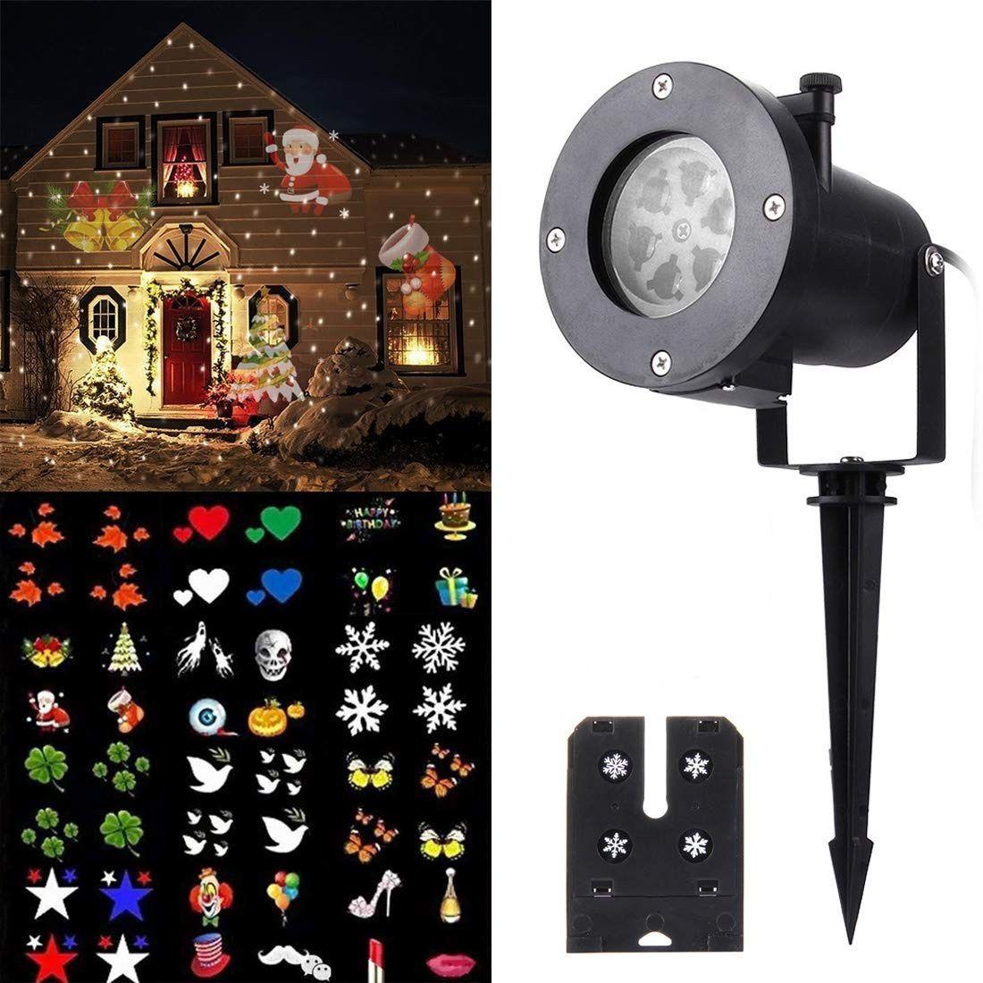 Mini Laser Plug-in Card Lawn Projetor Holográfico Natalino
