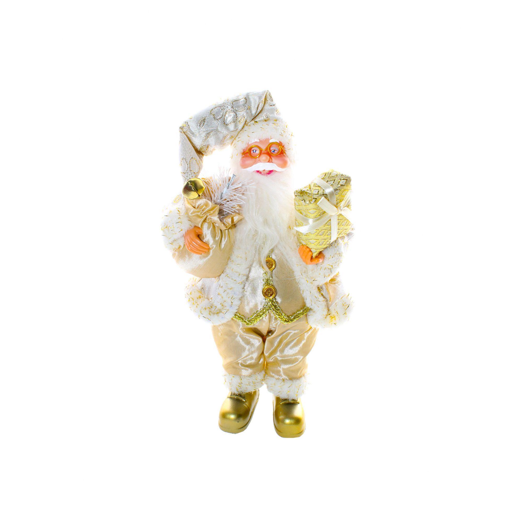 Papai Noel Dourado - 30 cm Altura