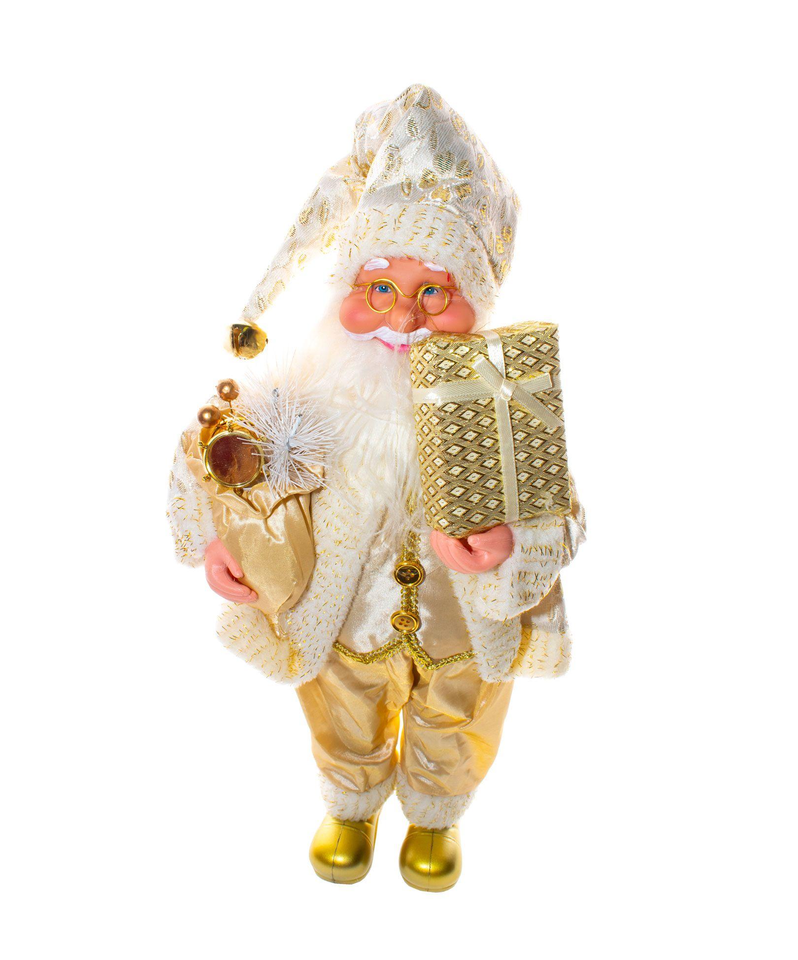 Papai Noel Dourado - 40Cm Altura