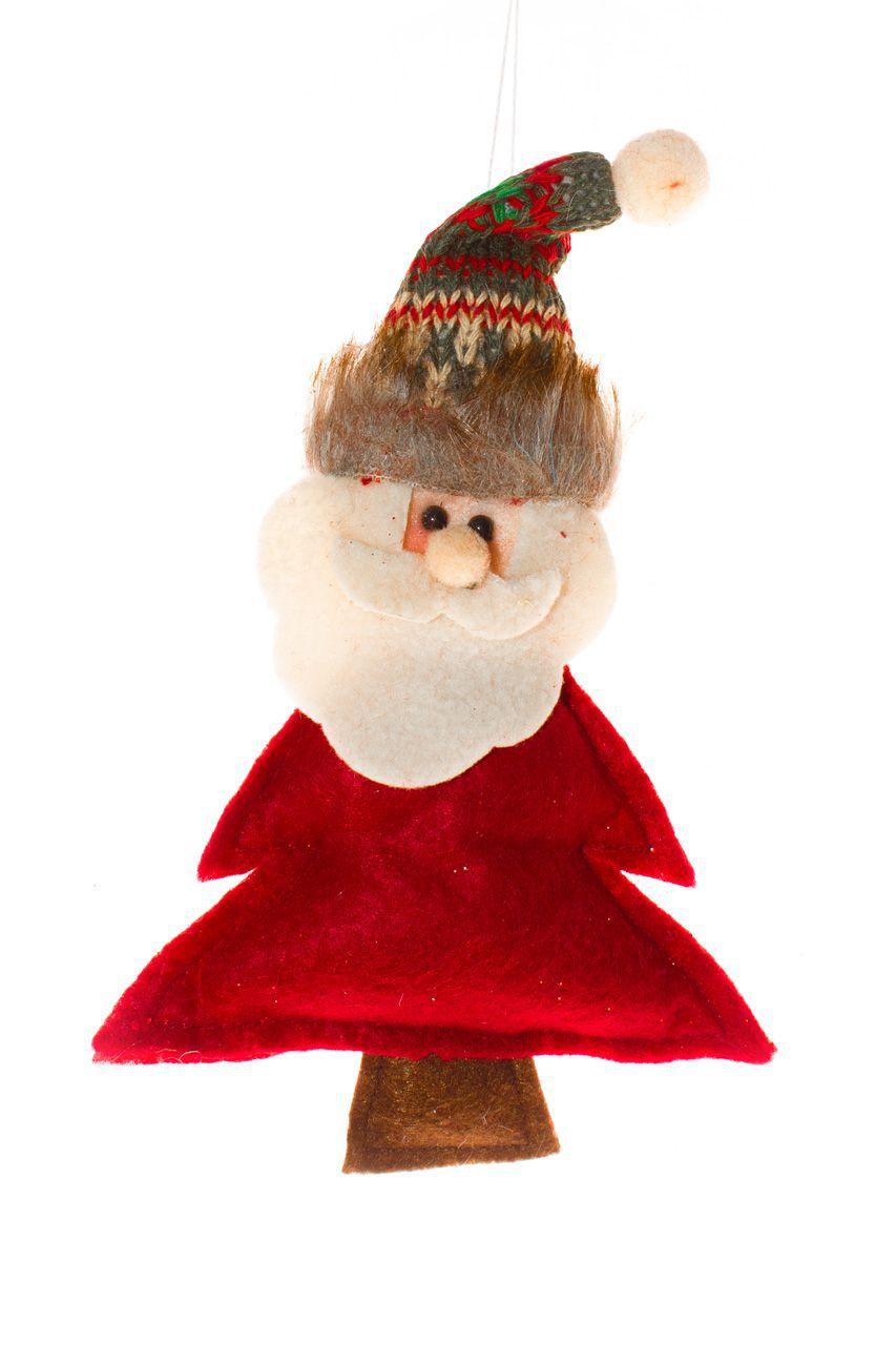 Papai Noel pendente para arvore de Natal - 17 cm