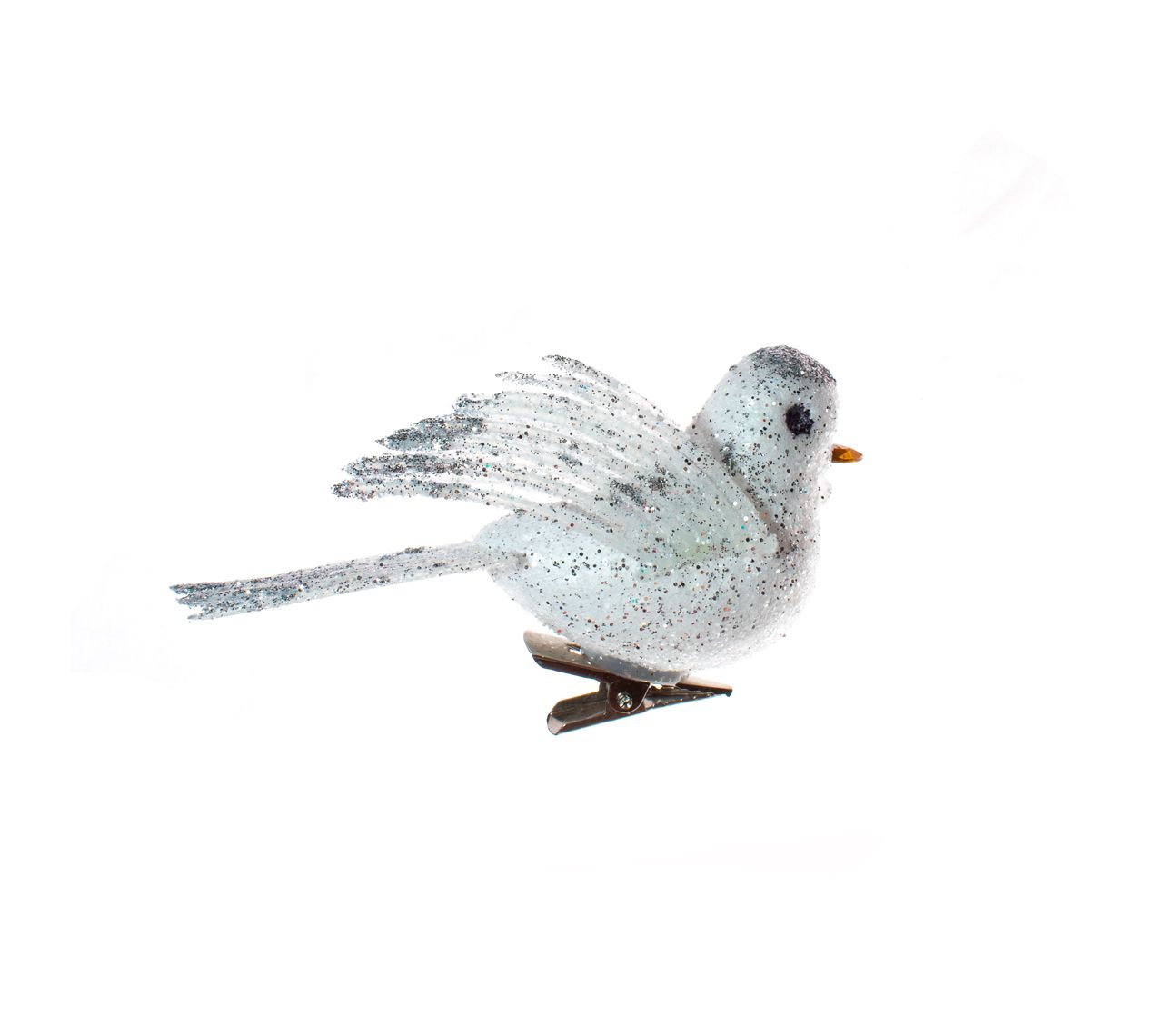 Pássaro Prateado Decorativo  -  C/4