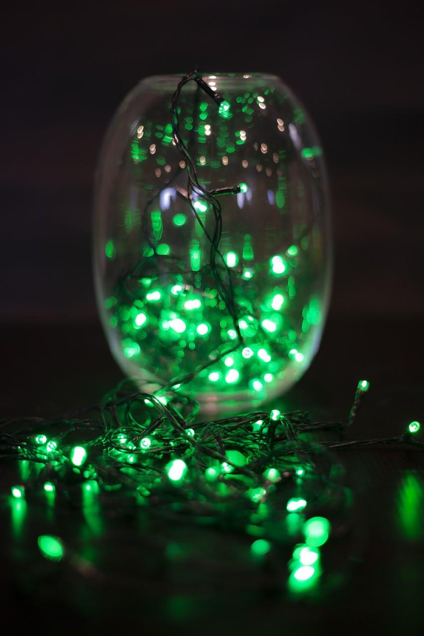 Pisca Pisca De Natal Verde Vários Modos - 100 L