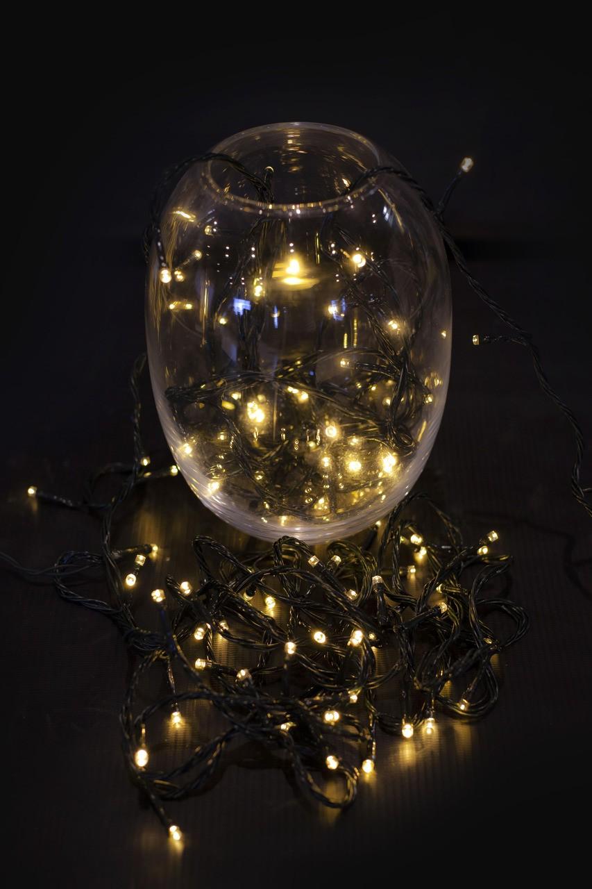Pisca Pisca Natal Amarelo Vários Modos - 100 L