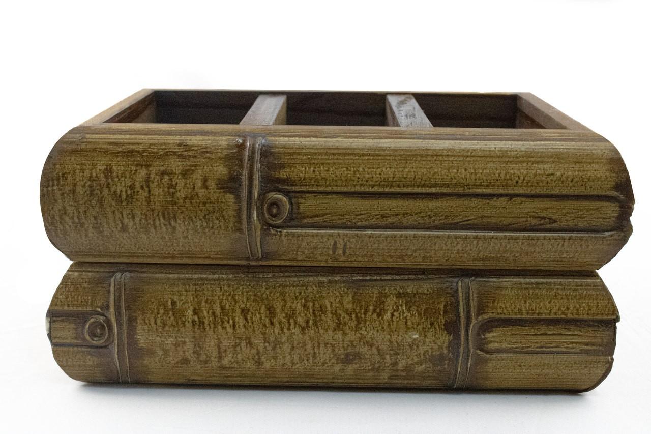 Porta Controle Remoto De Madeira De Bamboo