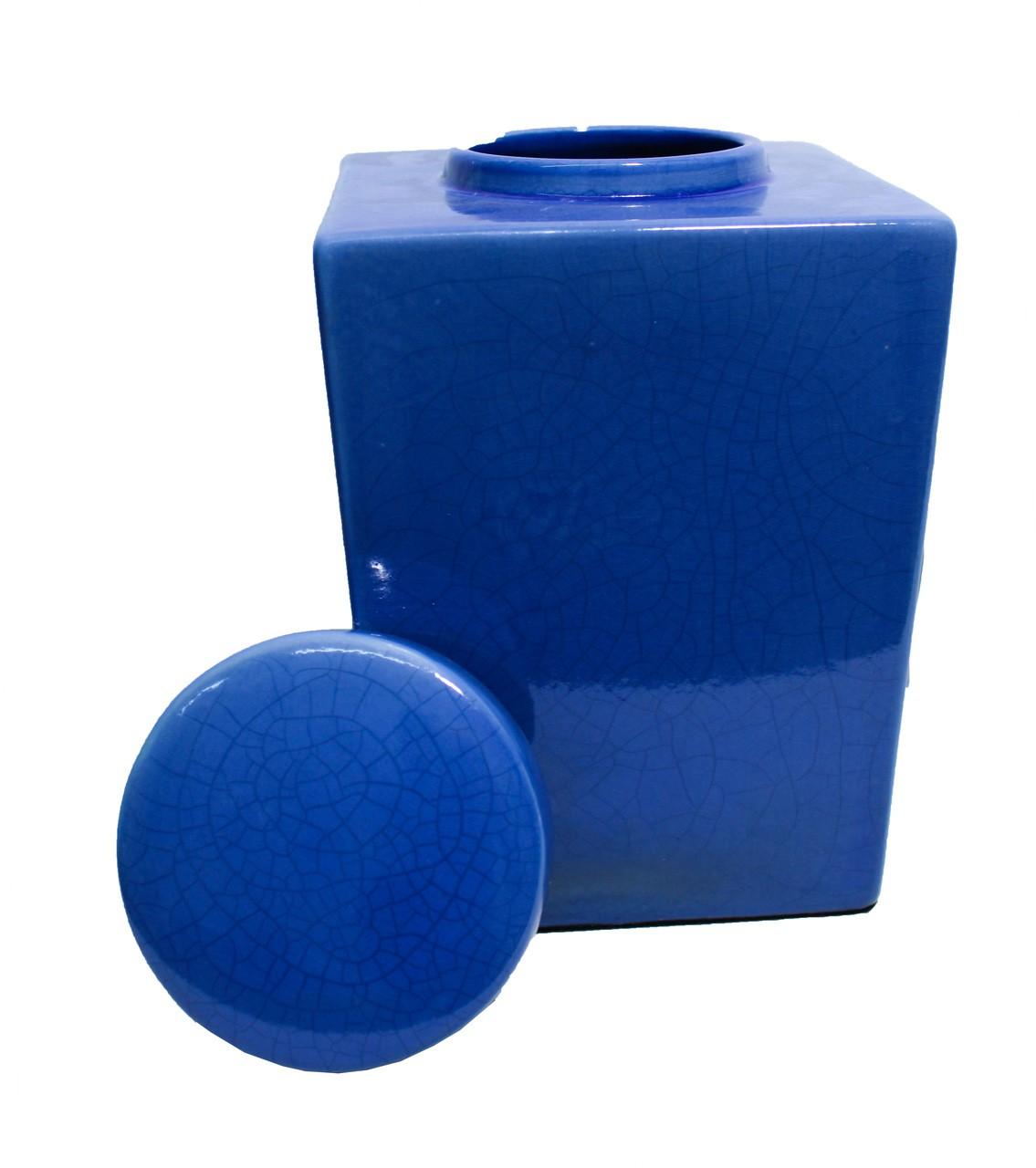 Pote Quadrado M Azul Novo