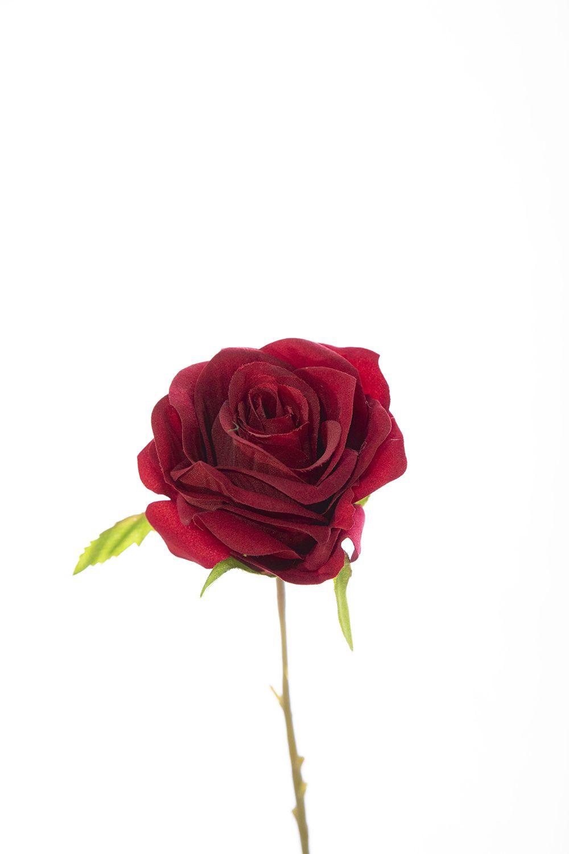 Rosa Unitaria 40Cm - Vermelho