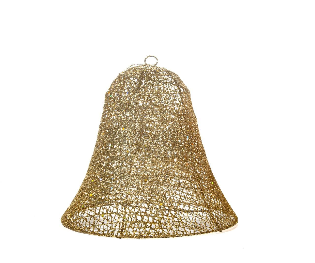 Sino Natalino Decorativo Dourado - 31 Cm