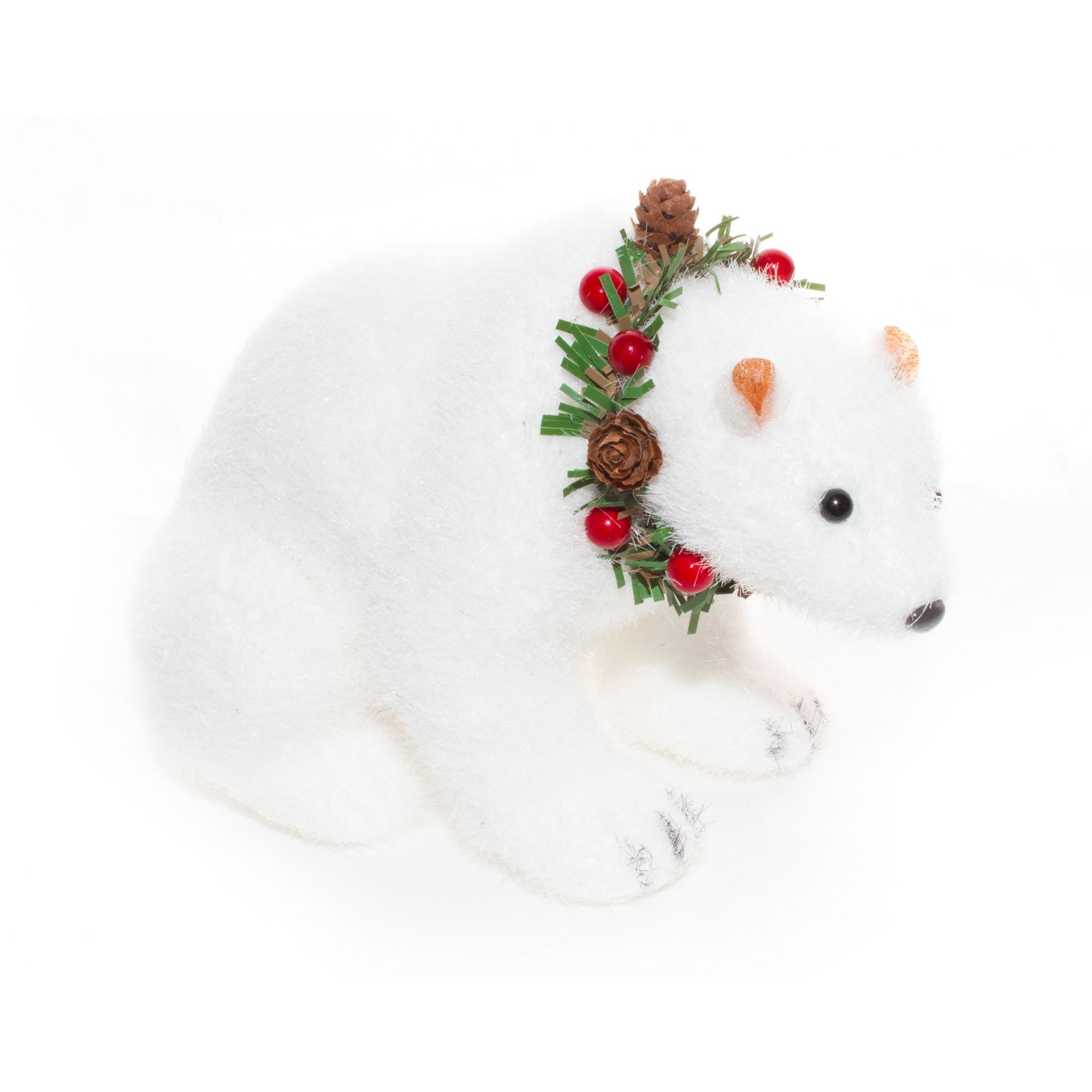 Urso Polar Natalino P - 13 cm