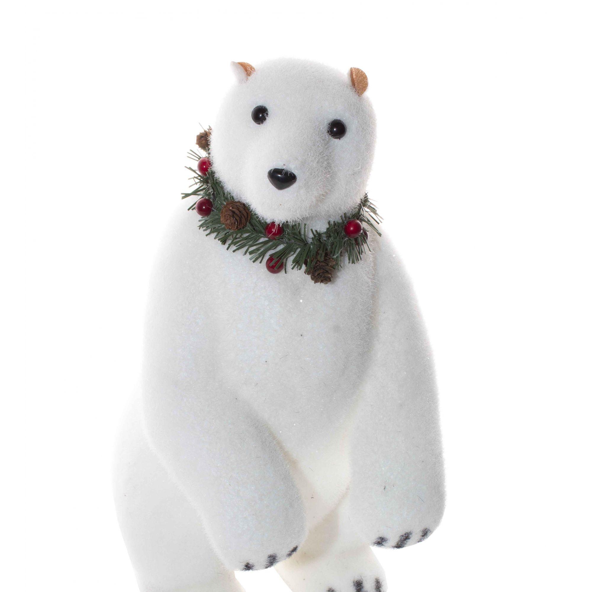 Urso Polar Natalino G - 42 cm altura