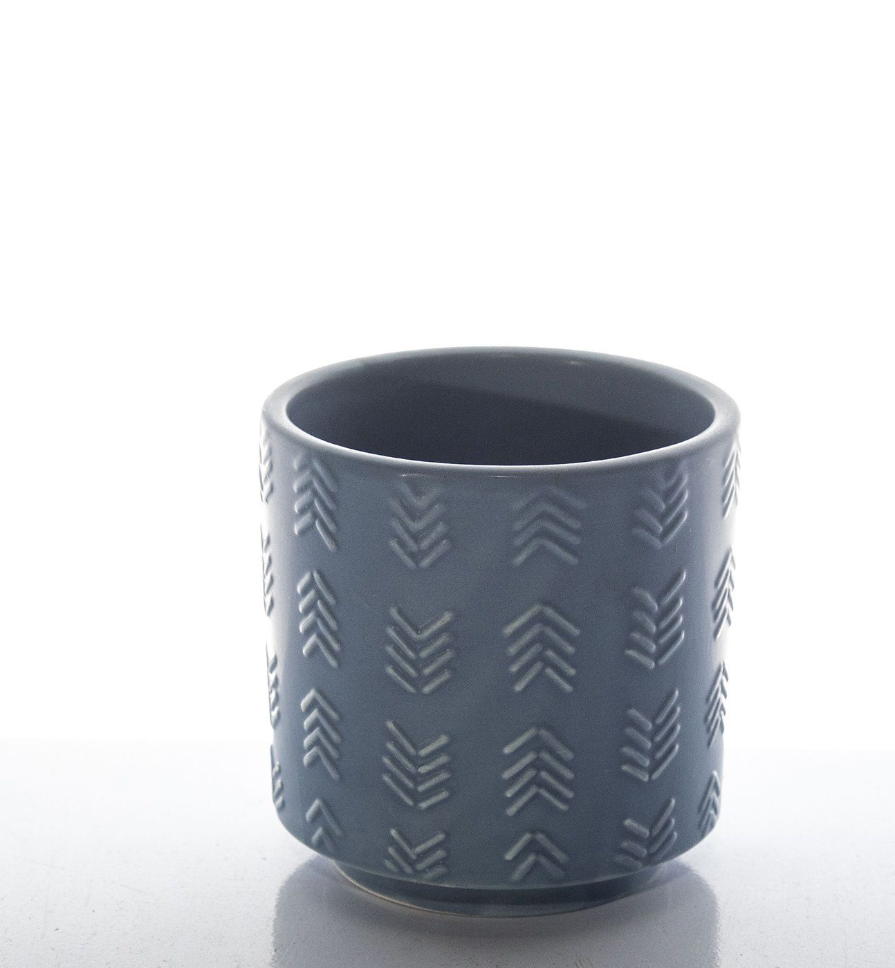 Vaso Cerâmica Decorativo Azul