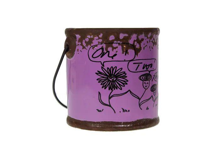 Vaso de Cerâmica Balde - 8cm Altura