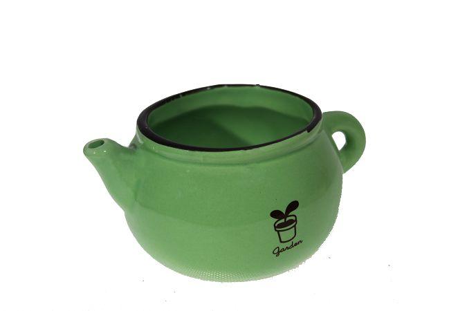 Vaso De Cerâmica Bule Baixo - 6Cm