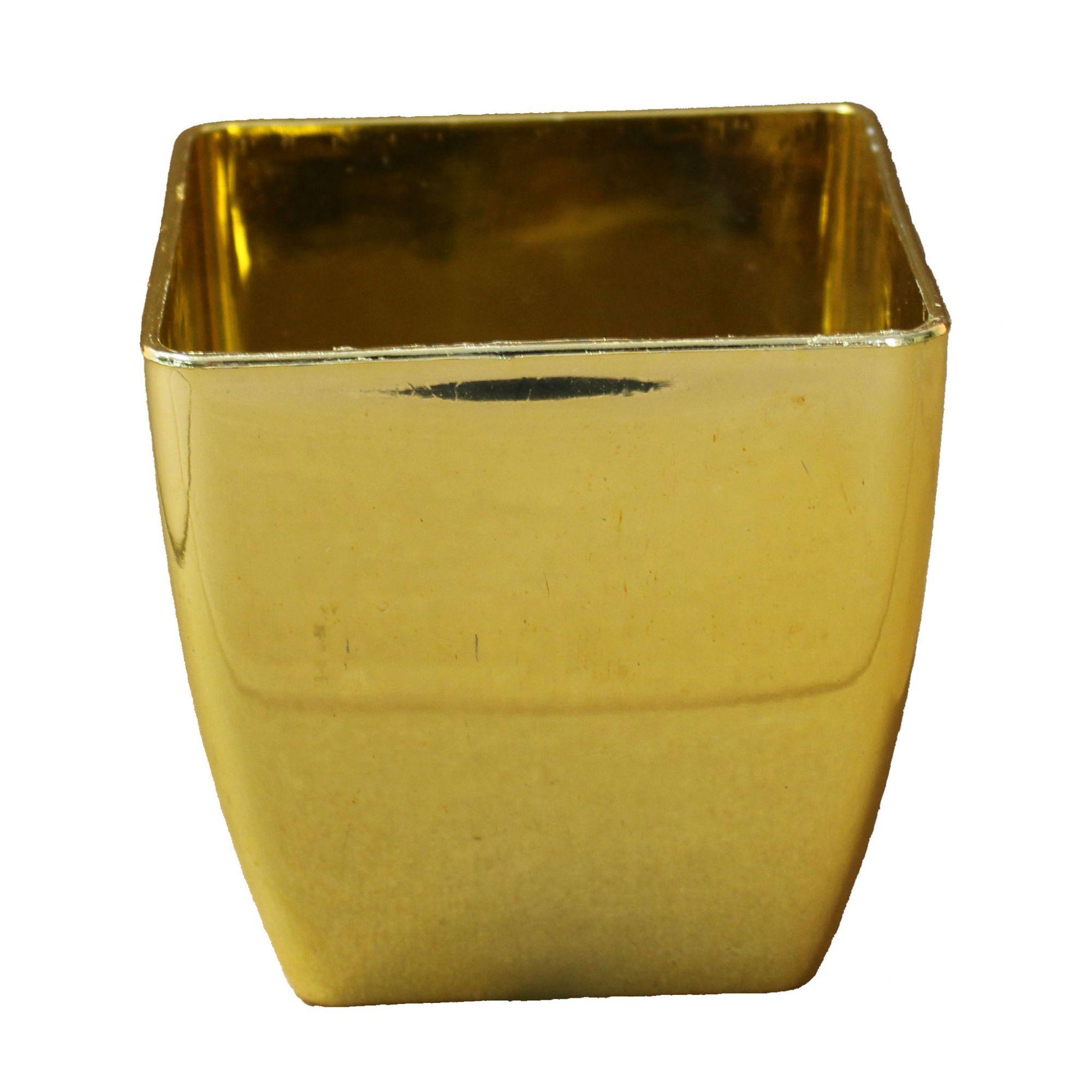 Vaso De Plastico Dourado