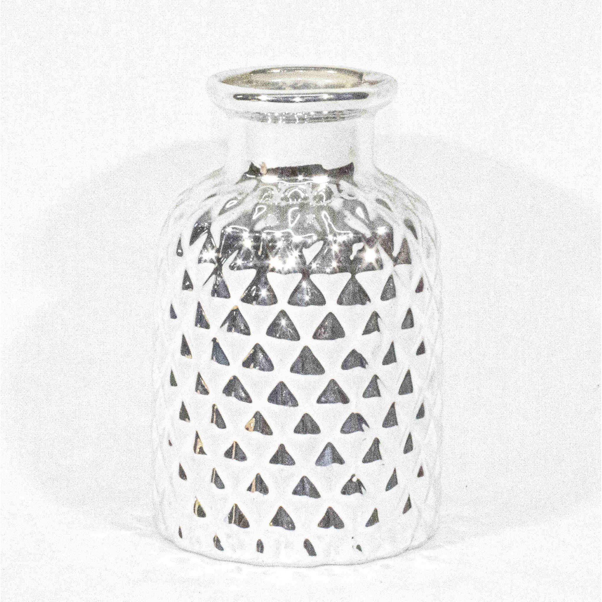 Vaso De Porcelana Prata