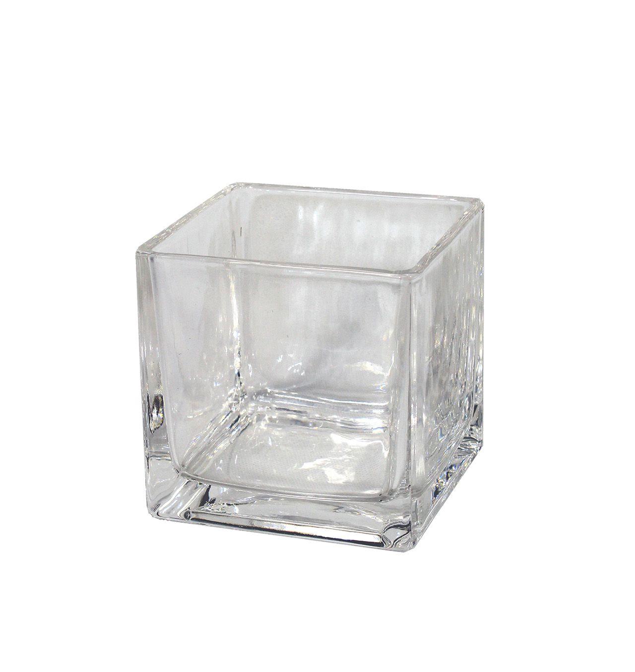 Vaso De Vidro  Medio - 10,30Cm Altura X 11Cm Boca