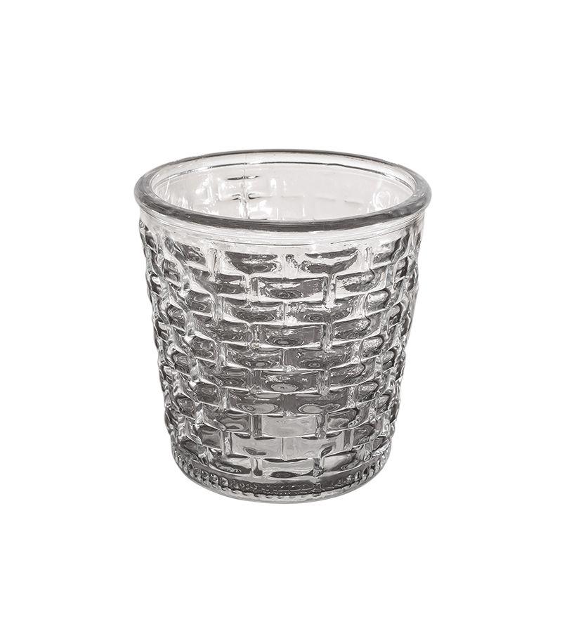 Vaso Decorativo em Vidro Transparente 12x12 cm