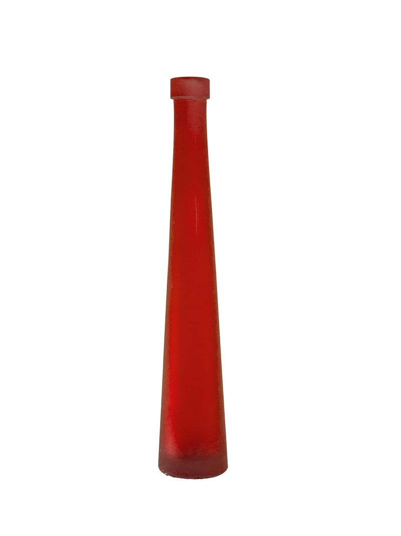 Vaso Garrafa Solitário Em Vidro - Lilás, Azul, Vermelho E Verde
