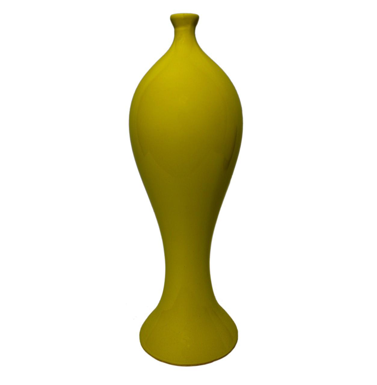 Vaso Riviera Slin Amarelo Pequeno
