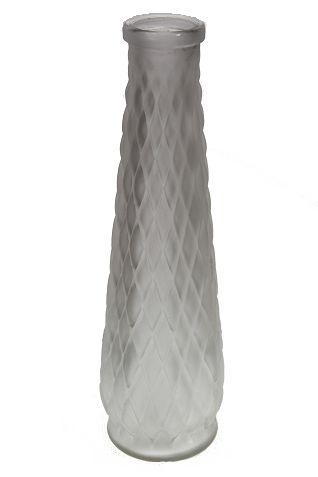 Vaso Vidro Colorido - 25cm Altura X 5cm Boca