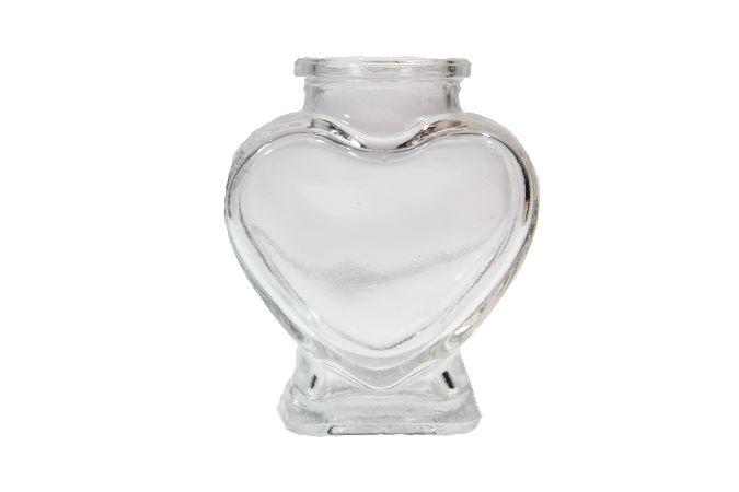 Mini vaso de vidro coração - 8cm