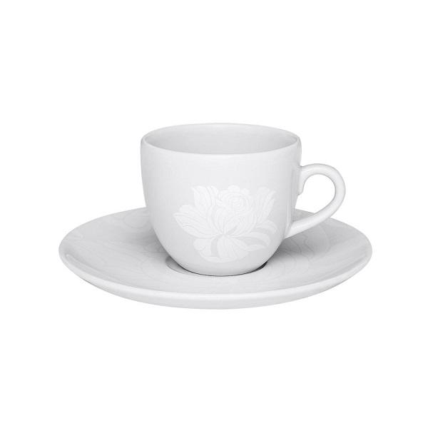 Xicara De Cha 200Ml Com Pires - Blanc