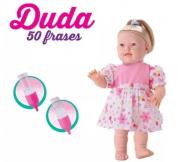 Boneca Duda 50 Frases 40 cm Vinil Bee Toys 729