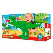 Dino Jurassic 30 blocos montar Baby Land Cardoso 8001