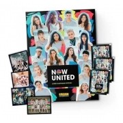 Kit Álbum Figurinhas Ilustrado Now United + 40 Figurinhas + 10 Cards
