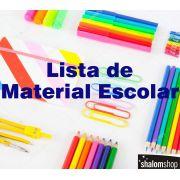 Lista Material Escolar Ensino Fundamental 1 com 25 itens ShalomShop