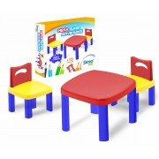 Mesa Infantil com 2 cadeiras Super Atividades Plástica Simotoys 280