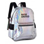 Mochila Now United Holográfica Costal Grande Clio NU3252 Escolar