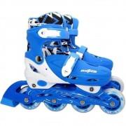 Patins In-Line Azul 4 rodas 35/38 Ajustável Astro Toys Ref 8976