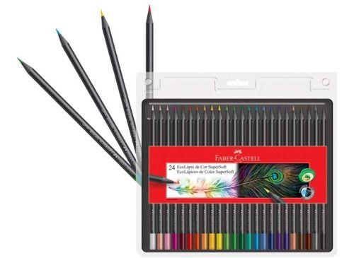 Lápis De Cor Faber Castell 72 Cores (48 LV Eco + 24 Supersoft)