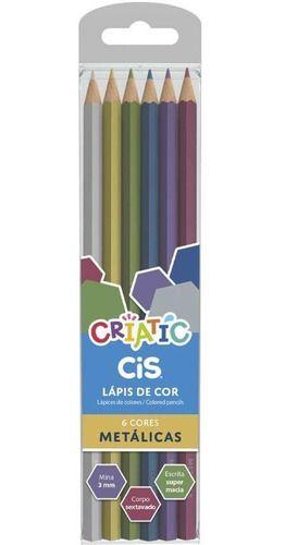 Lápis 24 Cores Cis Criatic (12 Pastel + 6 Metálico + 6 Tons De Pele)