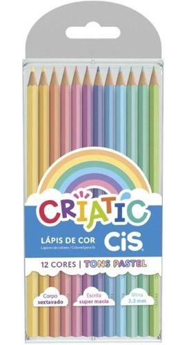 Lápis de Cor 78 Cores (48 Faber + Cis 12 Pastel + 6 Metálico + 6 Pele + Tris 6 Neon)