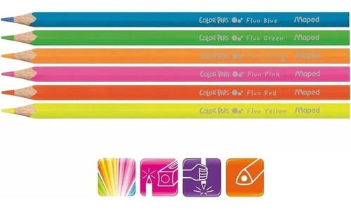 Lápis De Cor 30 Cores (12 Tom Pastel + 6 Metálico + 6 Tom Pele + 6 Neon)