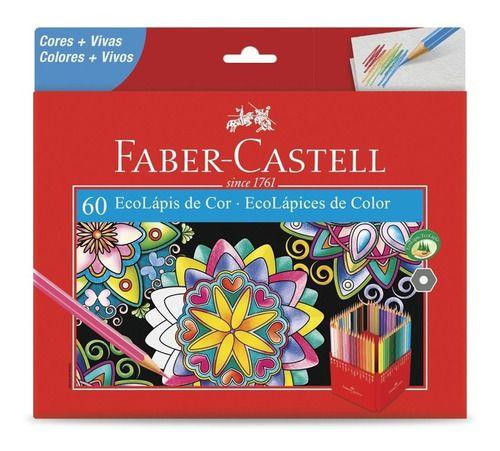 Lápis de Cor 90 Cores (60 Faber + 12 Pastel + 6 Metálico + 6 Pele + 6 Neon)