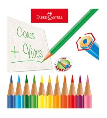 Lápis de Cor 60 Cores (36 Faber + 12 Tons Pele Tris + 12 Tom Pastel Cis)