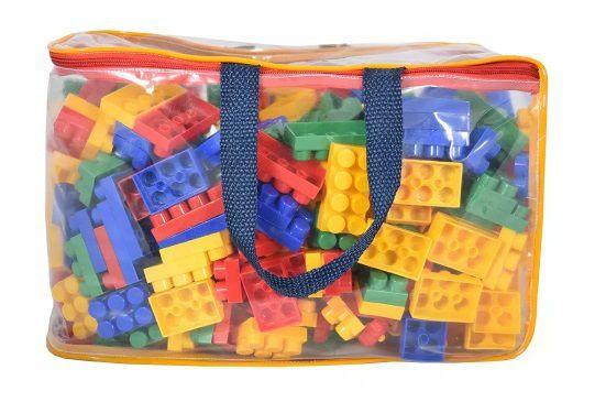 Blocos Pedagógicos Sacola c/500 peças ref. 7307