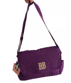 Bolsa Transversal Feminina Rebecca Bonbon Roxo Rb 8177 Clio