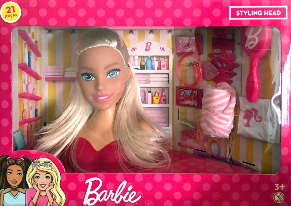 Boneca Barbie Busto Pentear Cabelo Pupee 1255 Styling Head