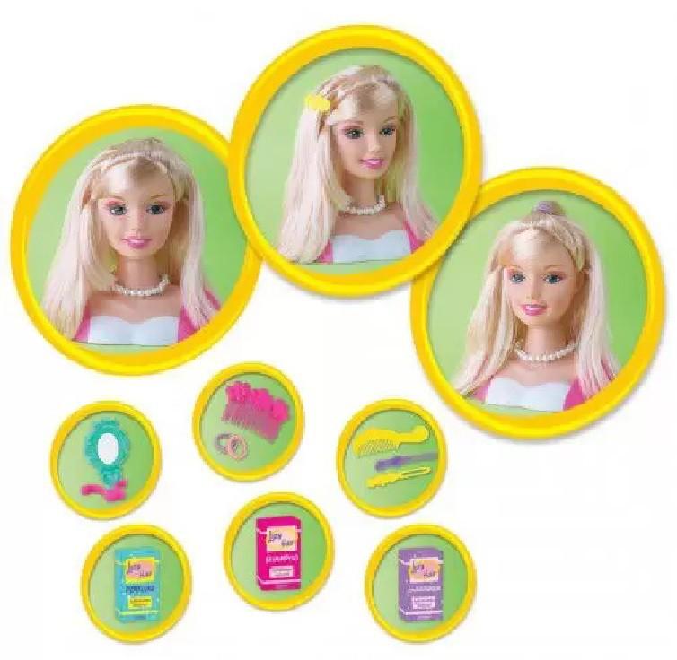 Boneca Lucy Hair Faça Penteados Busto e Acessórios Braskit 690-6