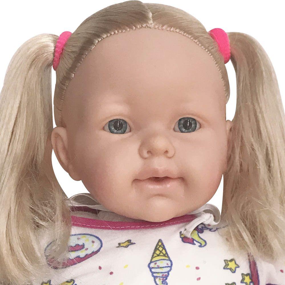 Boneca Mimi Faz Xixi C/fralda + Mamadeira 40cm Pupee 1152