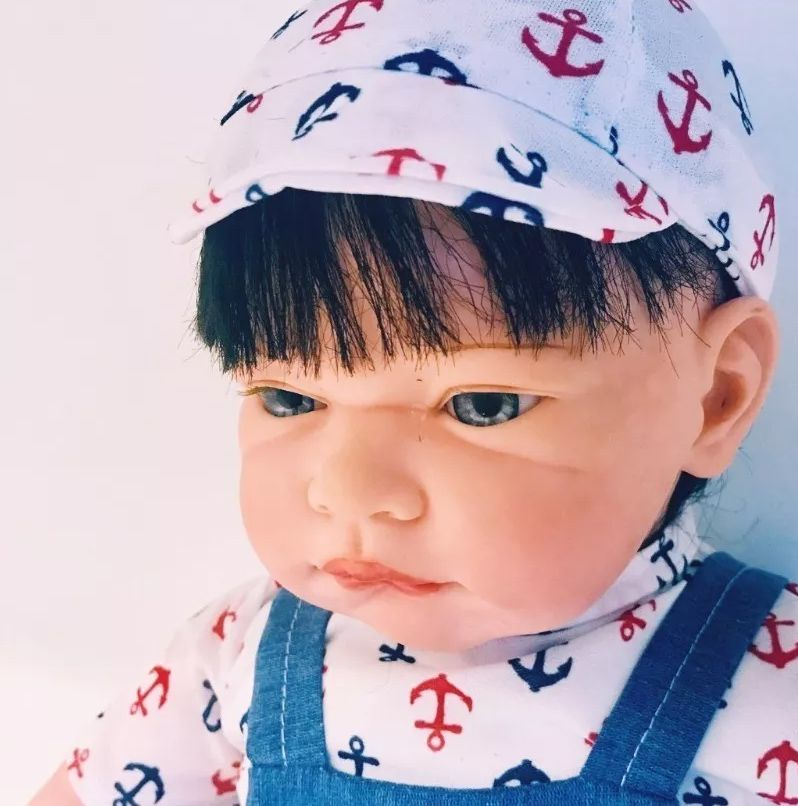Boneca Recém Nascido Tipo Reborn 46cm 1,5kg Menino ou Menina
