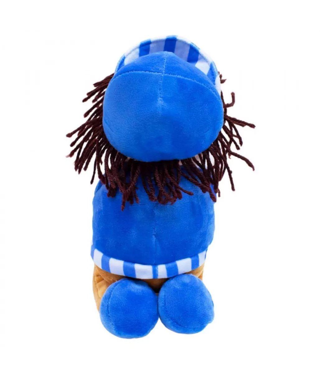 Boneco Pano Menino Reza Pai Nosso 24cm Azul com Boné Fofy Toys BBL1065-C