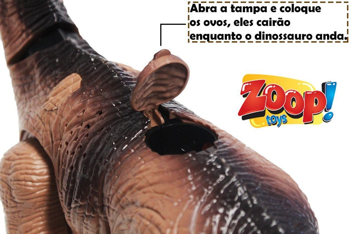 Dinossauro Braquiossauro Bota Ovo Som Luz ZP00162