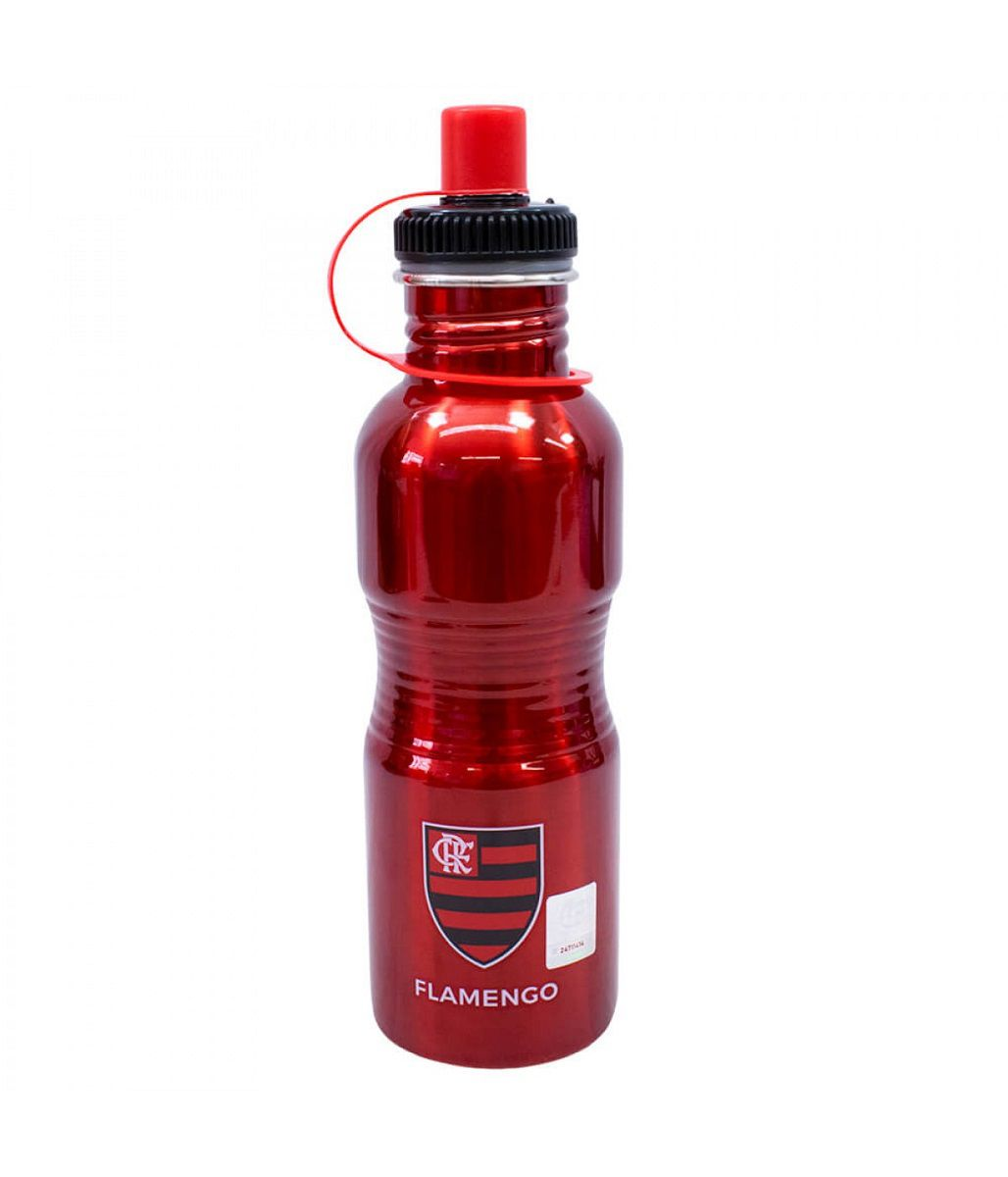 Garrafa Squeeze Inox Flamengo 750ml YF039A1-5 com Bico