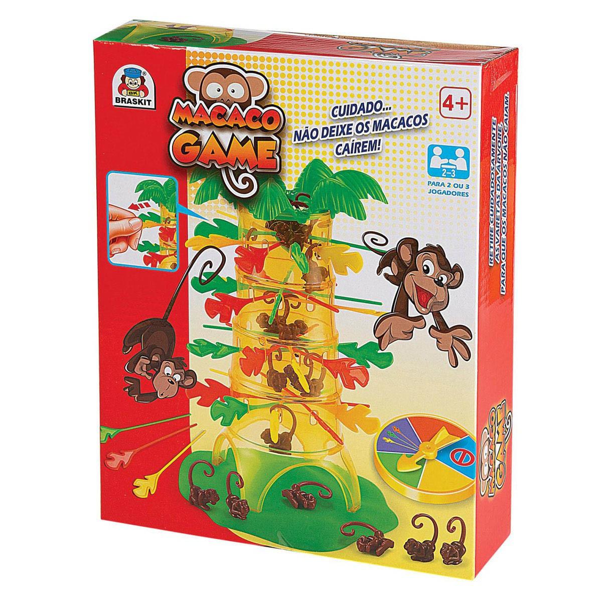 Jogo Macaco Game Não Deixe o Macaco Cair Braskit 100-1