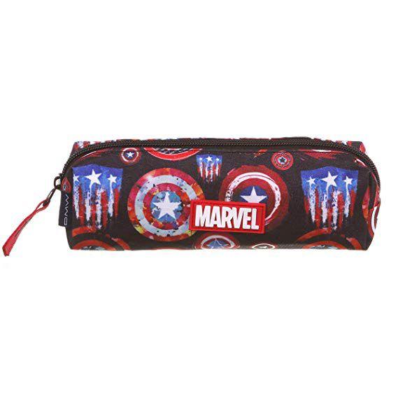 Mochila Capitão América Marvel Sound Mochila G + Fone + Estojo 11703 DMW